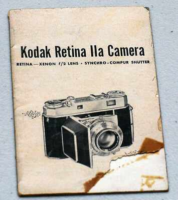 KODAK RETINA IIa Original Camera Guide Manual Instruction Photography Book
