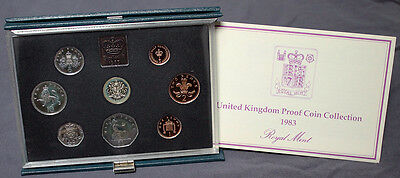 1983 United Kingdom Royal Mint Proof Coin Collection Package & CoA #15439
