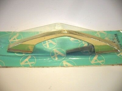 Vintage NOS Polished BRASS Chevron DRAWER Pulls Cabinet Handle Boomerang Amerock