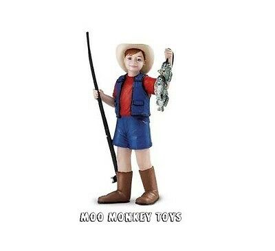 RANCHER TOBY w/ pole & fish Safari People #820229 Farm Boy Toy Replica NWT