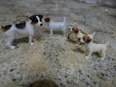 Enesco Jack Russell Dog Ornament 2006 Schiech 2002 2 Unmarked Ornament Detailed