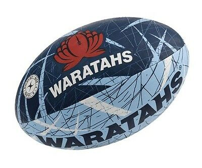 New South Wales Waratahs Gilbert Supporter Rugby Union Ball Full Size wHand Pump
