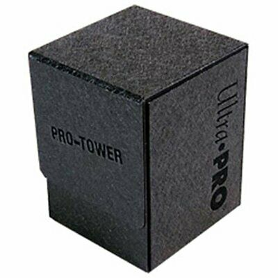 ULTRA PRO - PRO-TOWER Deck Box - Black Limited Card Storage MTG Yugioh Pokemon