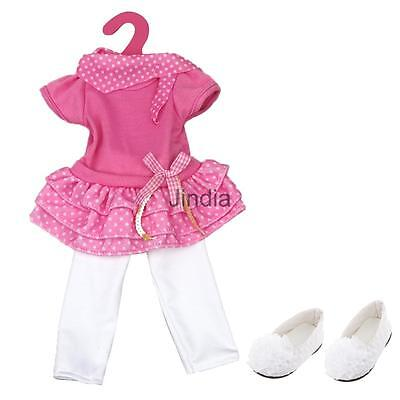 Adorable Dress Leggings and Shoes for 18'' American Girl Doll Clothes ACCS