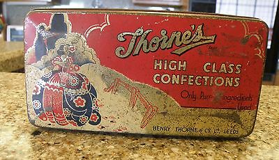 Vintage THORNE'S HIGH CLASS CONFECTIONS Advertising Candy Tin
