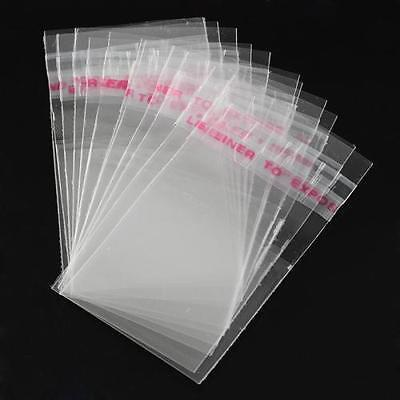 1000pcs Clear OPP Cellophane Candy Bags Cello Plastic Self Adhesive Resealable