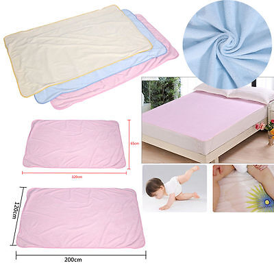 Super Absorbent Washable Reusable Urine Incontinent Mat Breathable Nursing Pad