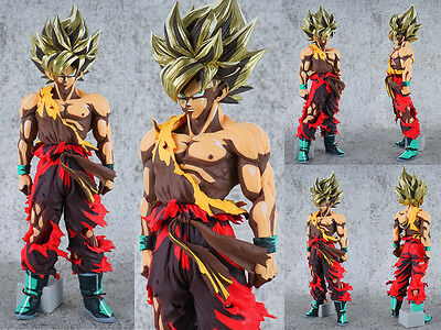 Collections Anime Figure Toy Dragon Ball Z Goku Red Ver.Figurine Statues 34cm