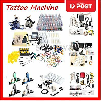 Complete Tattoo Kit Tattoo Machine Guns Set Ink Needles Power Supply Grip Tips