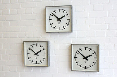 Vintage Industrial Factory Clocks By Pragotron Circa 1950's 30 Available