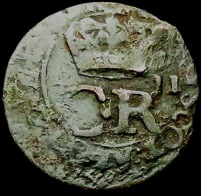 S608: 1663 Scottish Charles II Copper Twopence / Turner / Bodle, Spink 5625