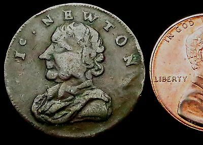 S617: 1793 Condor FARTHING - Sir Isaac Newton - Monogram (Middlesex) - Cheap