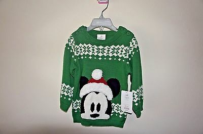 Disney Store Mickey Mouse Christmas Sweater - Baby Boy 6-9M, 18-24M