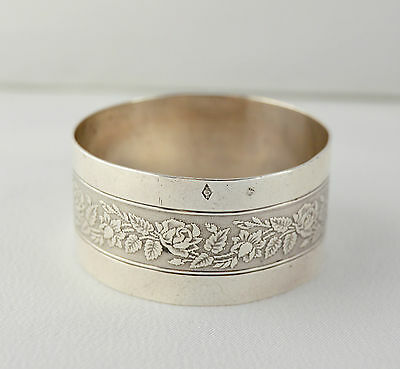 French Antique  Sterling Silver Napkin Ring By Beunke R. - 19th -