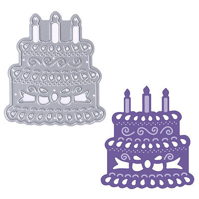 Metal Candle Cake Cutting Dies Stencils Scrapbooking Embossing Paper Card Crafts