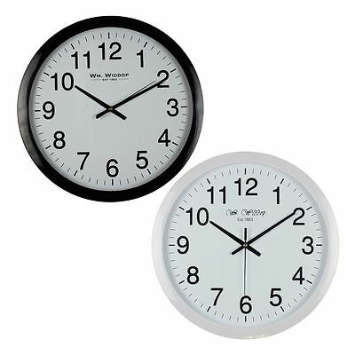 Wm.Widdop 40 cm Wall Clock Bold Easy Read Numbers Classic Simple Silent Movement
