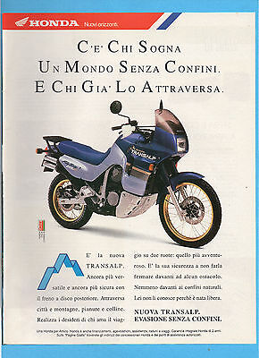 Motosprint991-Pubblicita'/advertising-1991- Honda Transalp