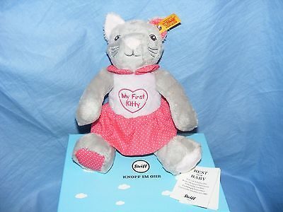 Steiff Cat My First Steiff Kitty EAN 241031 New Baby Gift Present Boxed