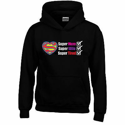 Super Tired Mothers Day Funny Hoodie