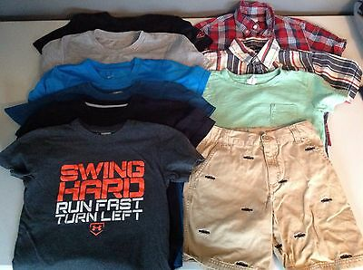Boys Size X-Small Lot of 10 Shorts Shirts Nike Under Armour Gap