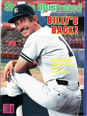 SPORTS ILLUSTRATED May 6, 1985/ Billy Martin, NEW YORK YANKEES, Dwight Evans