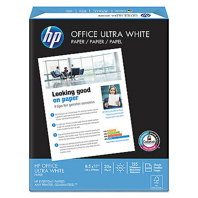 """HP Paper 20Lb 92 GE/102 ISO 8-1/2""""x11"""" White 500 Sheets 112101RM"""