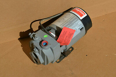 Dayton 1D877, 1/2 HP Cast Iron Convertible Jet Pump, 115/230V, 13.0/6.5 Amps