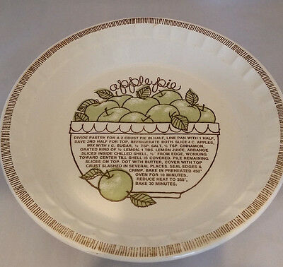 Vintage 1983 Royal China Country Harvest Deep Dish Apple Pie Recipe Plate GUC