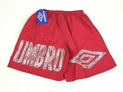 Vintage NWT 90's UMBRO Men's Red Logo USA Soccer Shorts Size Small #1489
