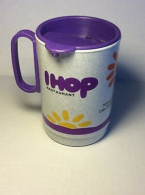 Vintage Ihop Restaurant Plastic Travel Mug Coffee Cup
