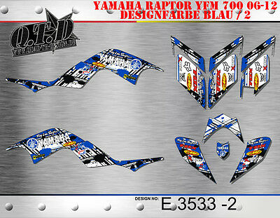 Motostyle-Mx Dekor Kit Atv Yamaha Raptor 700 2006-2012 Graphic Kit E3533 B
