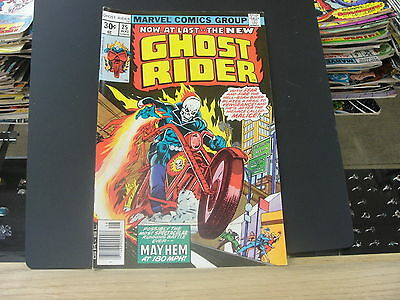 GHOST RIDER THE NEW #25 Original Aug 1977 Comic Book Mayhem at 180mph