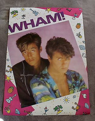 WHAM 1983 Club Tropicana GEORGE MICHAEL Andrew Ridgeley RARE Poster VGEX