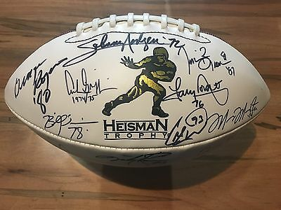 Heisman Winners Signed Football 20 Autographs Marcus Mariotta Tim Tebow PSA/DNA