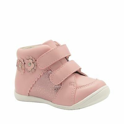 Girls Shoes Boots Grosby Shayla Pink Leather Boot Runner EURO 20-26 Flower New