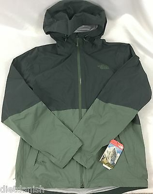 The North Face Men's Matthes Outdoor Hooded Full Zip Rain Jacket Green Size M