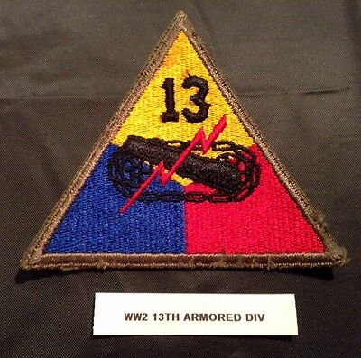World War II U.S. Army 13th Armored Division Shoulder Patch