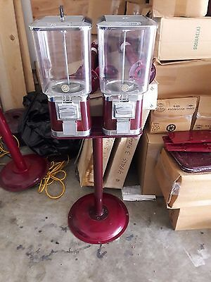 Commercial Double Head Gumball Candy Machine Vending Machine With Key!