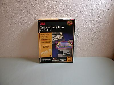"""3M Transparency Film for Copiers 8 1/2""""x 11"""" PP2500 Partial Box 49 Sheets"""