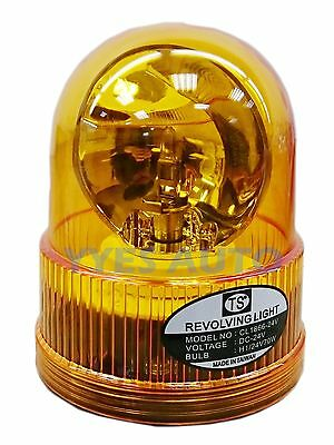 Store Light / Beacon / Warning Light / YC-8602 H1 Lamp Amber Lens DC24V