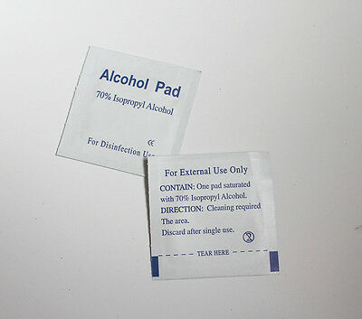Alcohol Swabs Pads Wipes Antiseptic Skin 70% Isopropyl Medical clean