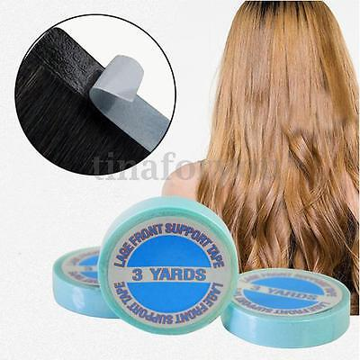One Roll Strong Double-sided Adhesive Blue Tape for All Tape Hair Extensions,3m
