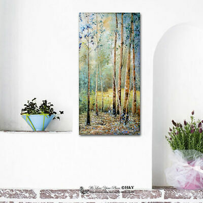 Forest Stretched Canvas Print Framed Wall Art Home Office Decor Painting Gift