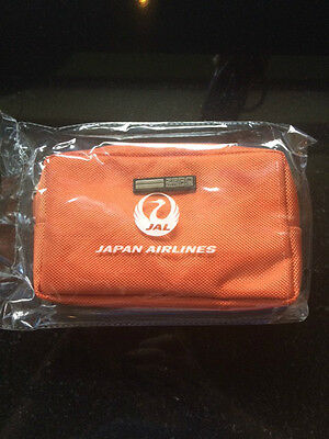 Japan Airlines (JAL) Business Class Soft sided Amenity Bag in Orange