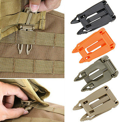 5 Pcs Molle Strap Outdoor Backpack Bag Webbing Connecting Buckle Clip Accessory
