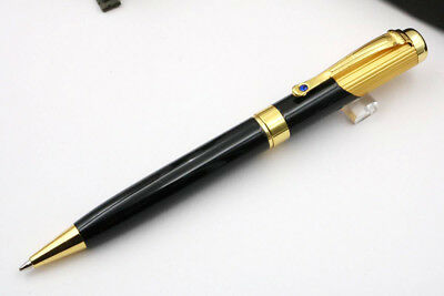 jinhao black and blue gemstone golden Trim Ballpoint Pen