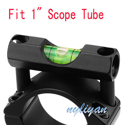 """Fit 25.4mm/1"""" Scope Mount Spirit Level Bubble adapter for Rifle Scope Sight"""