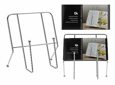 Chrome Cook Book Stand Cookery Book Stand Baking Recipe Holder Kitchen Book Rest