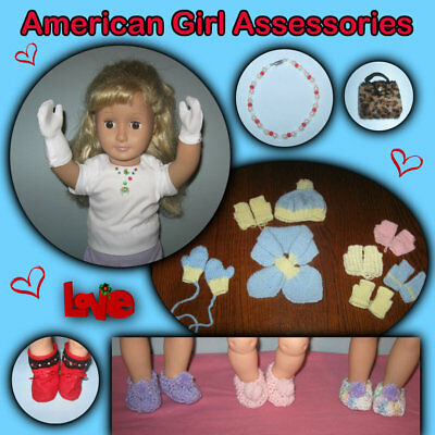 "ACCESSORIES & Formal Gloves 18"" American Girl Dolls Handmade the Crafty Grandmas"