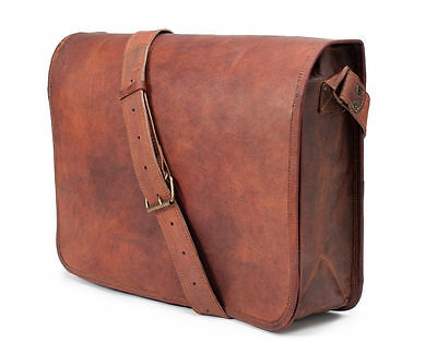 New Vintage Leather Messenger Bag Satchel Leather Men's Briefcase Laptop Bag